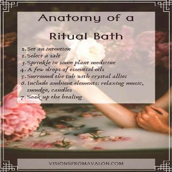 a Ritual Bath What is your favorite form of self care? Nothing puts me in a more tranquil state of