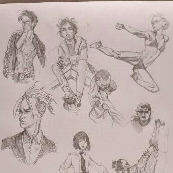 Bunch of sketches for this week. . .. . #art #artwork #sketch #pe
