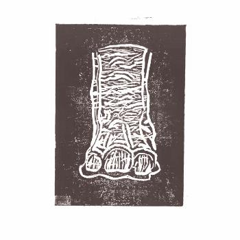 'Elephant's Foot' linocut animation. 10 lino prints all in one pl