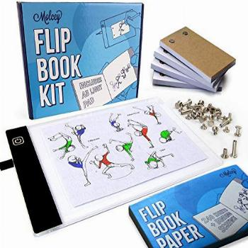 Flip Book Kit - LED Lightbox for Drawing and Tracing & 240