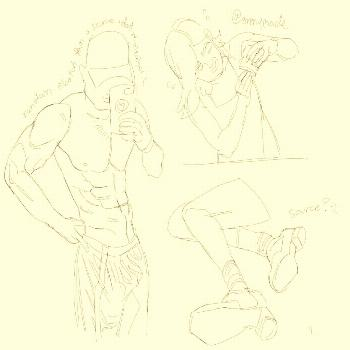 Heres some random figure studies!!!!!!!!!! Im trying to get bette