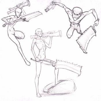 Heya . Some crappy action poses kinda bloodborne related.. . I fe