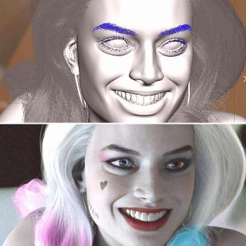 Reposted from @danroarty Throwback. Maya vs render of the 3D Quinn model I made of @margotrobbie .