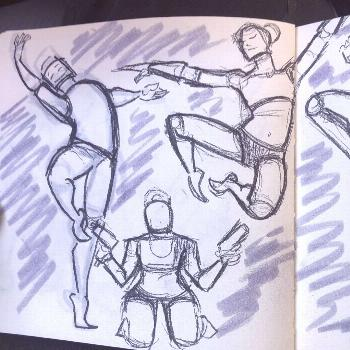 Shapes! Shapes everywhere! #sketch #sketchbook #posereference #sh