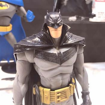 Some toy fair pictures I found of the Batman figure I sculpted ba