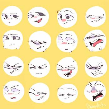 Various of expressions Credit: SUPPORT THE ARTIST!! . . -'๑'- f