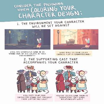 What to consider when coloring you character design: pg 2