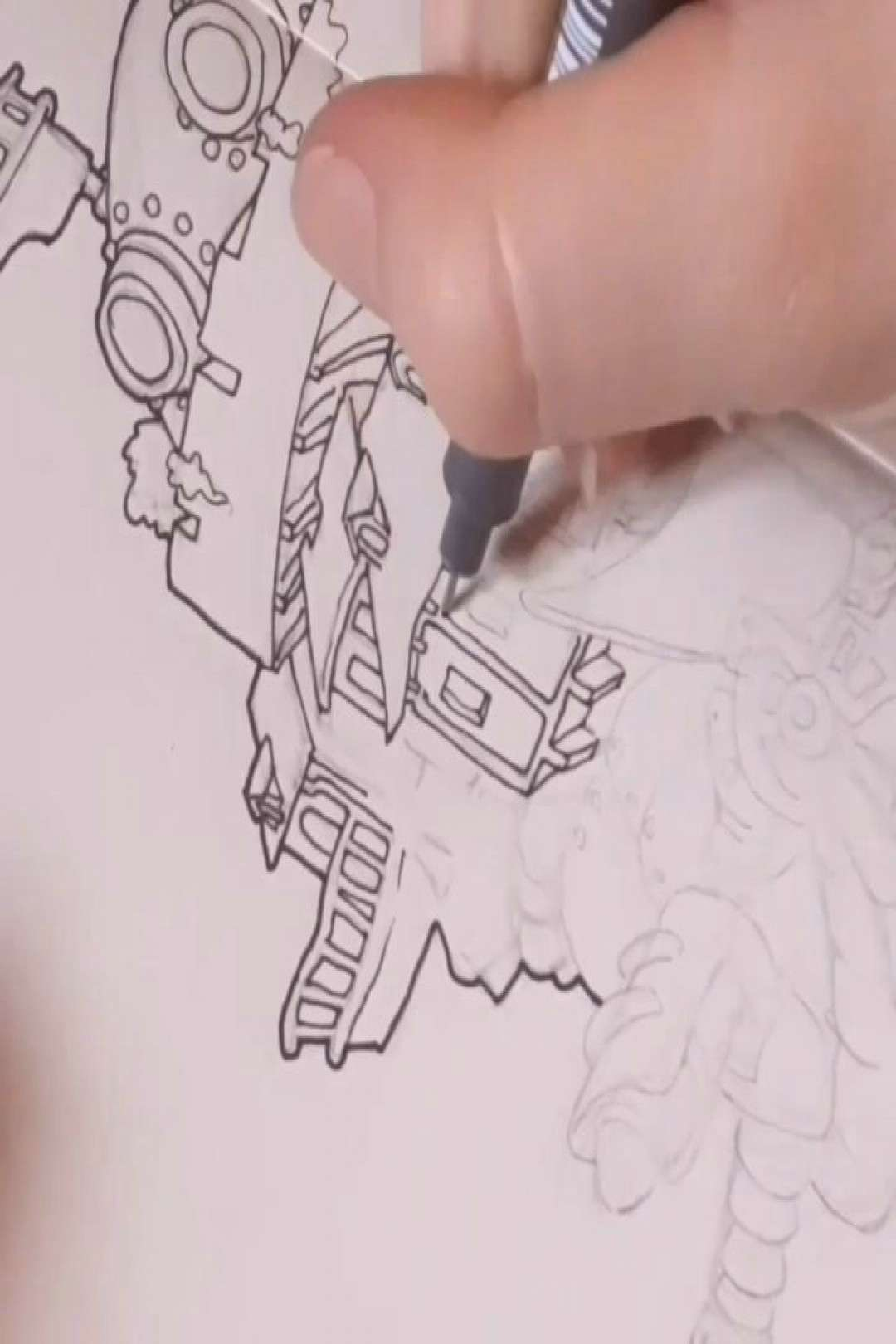 50 minutes of inking in 50 seconds D Howls Moving Castle - Part