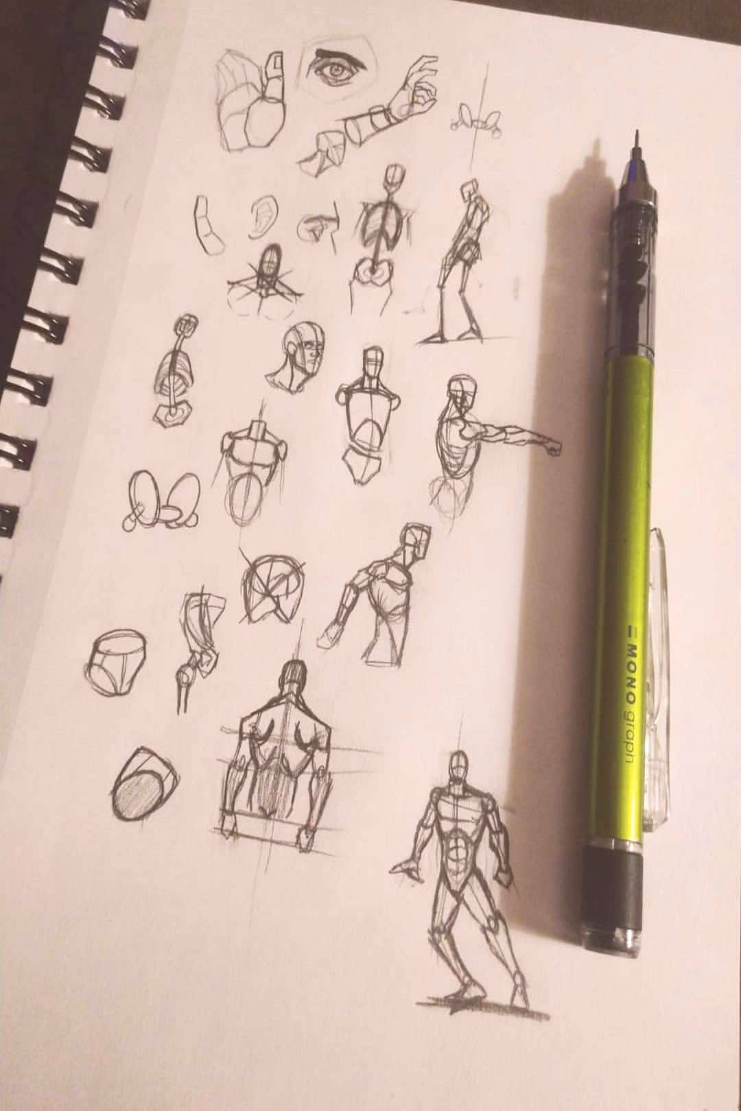 A bunch of sketches I did and a random little rough art work #art