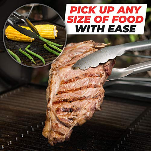 Alpha Grillers Heavy Duty BBQ Grilling Tools Set. Extra