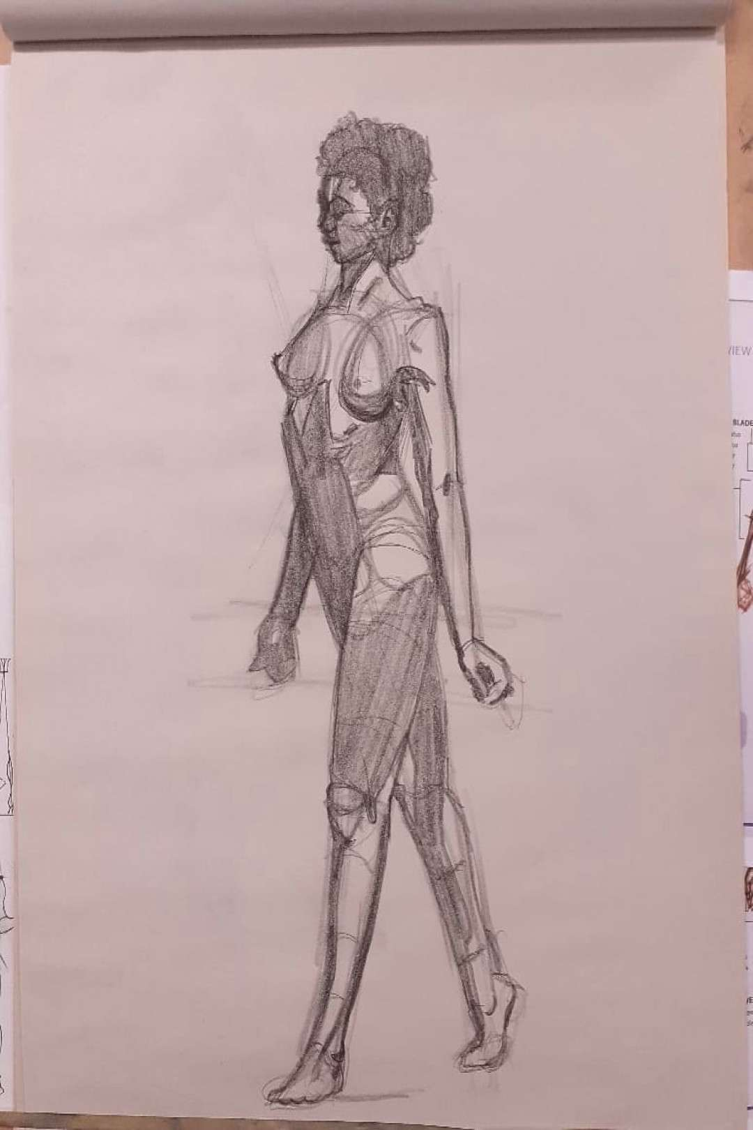 Another session of figure drawing and gestire studies from today