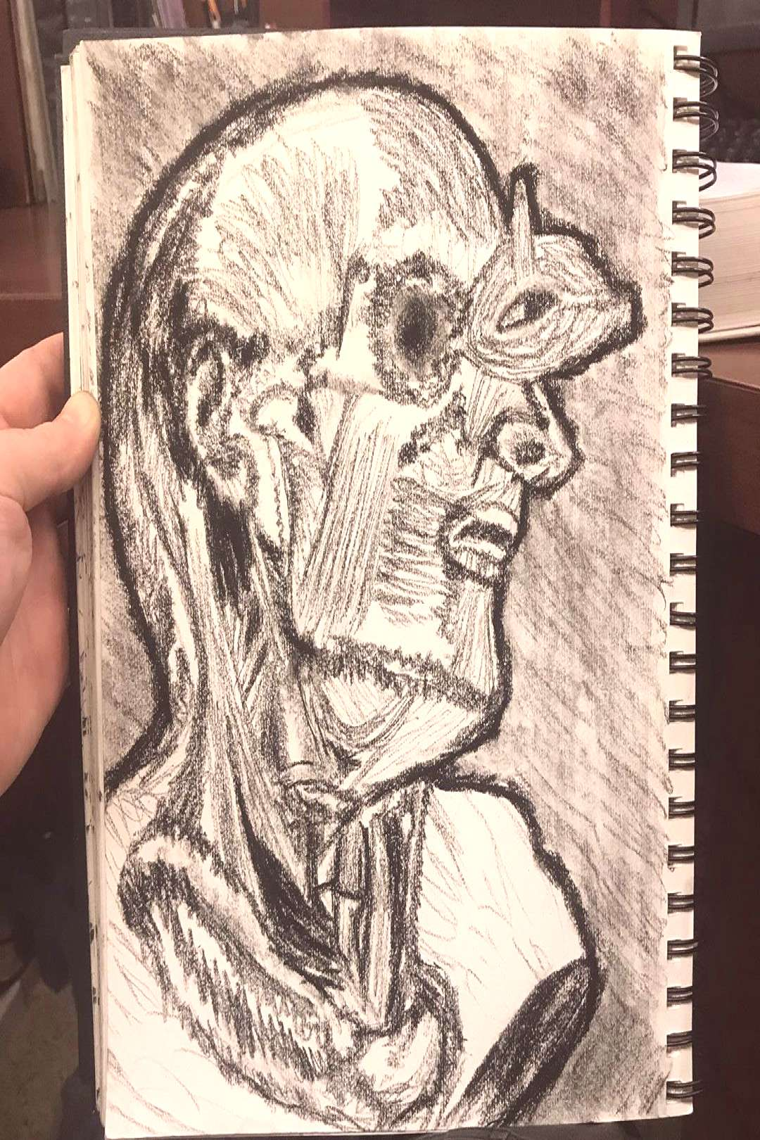Been a while, but heres another #anatomydrawing #sketchbook