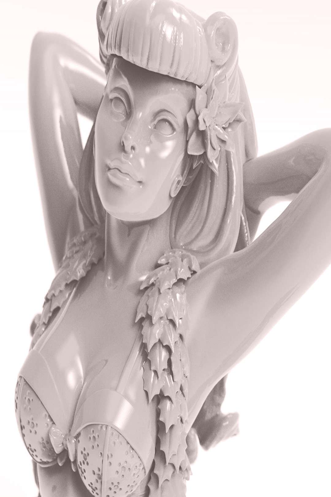 Bombshell Christmas Poison Ivy. Sculpted for DC Entertainment. Sc
