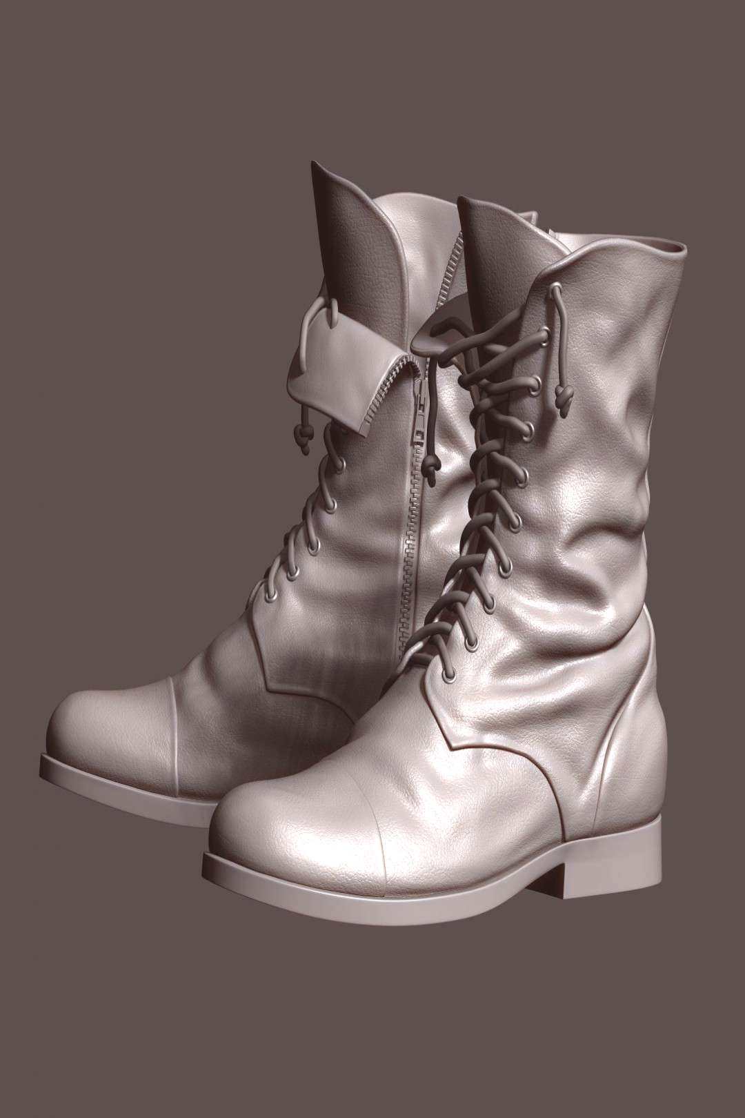 Boots - ZBrush Base Model by illusionist3d.    BOOTS - ZBRUSH BASE MODEL    This is a Boots ZBrush