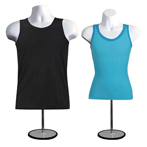 DisplayTown Mannequin Forms Male and Female Torso with Metal