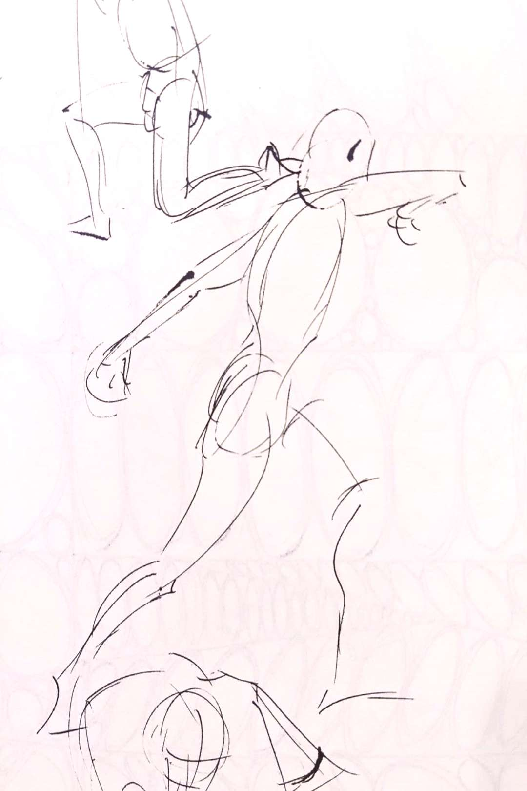 Figure drawings from last years life drawing session at Digital