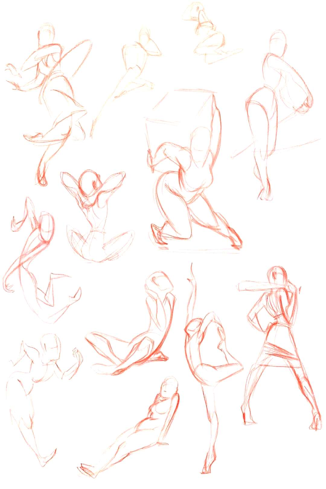Gesture drawing reference and inspiration???? credi