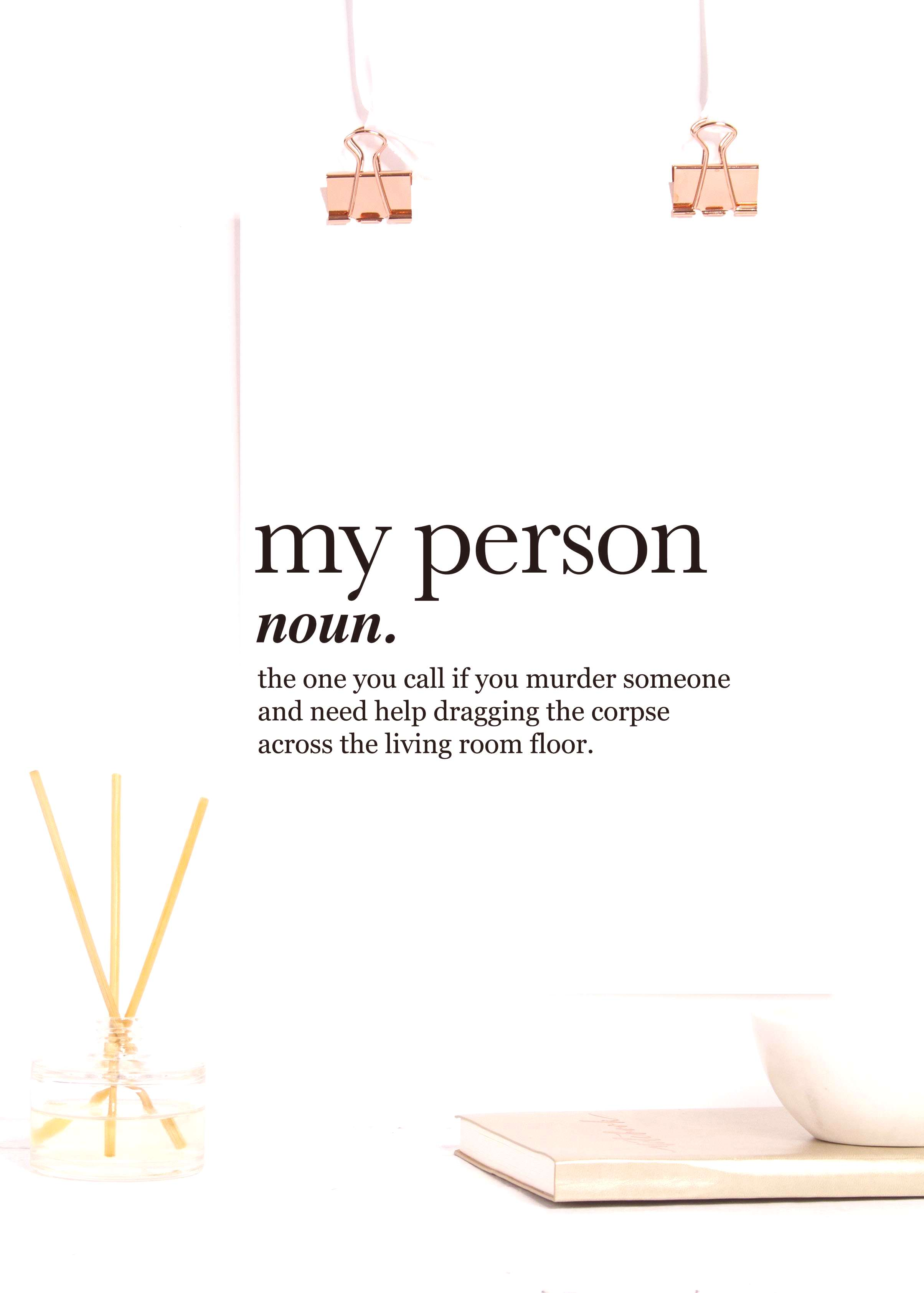 Greys Anatomy, Printable, Youre My Person, Definition Print, Cubicle Decor, Sister Birthday Gift,