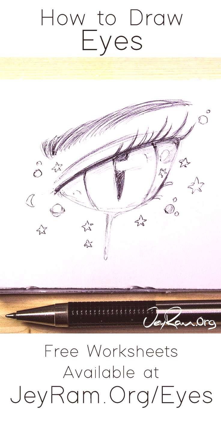 How to Draw Eyes Step by Step Tutorial for Beginners PDF by JeyRam Learn how to draw beautiful fem