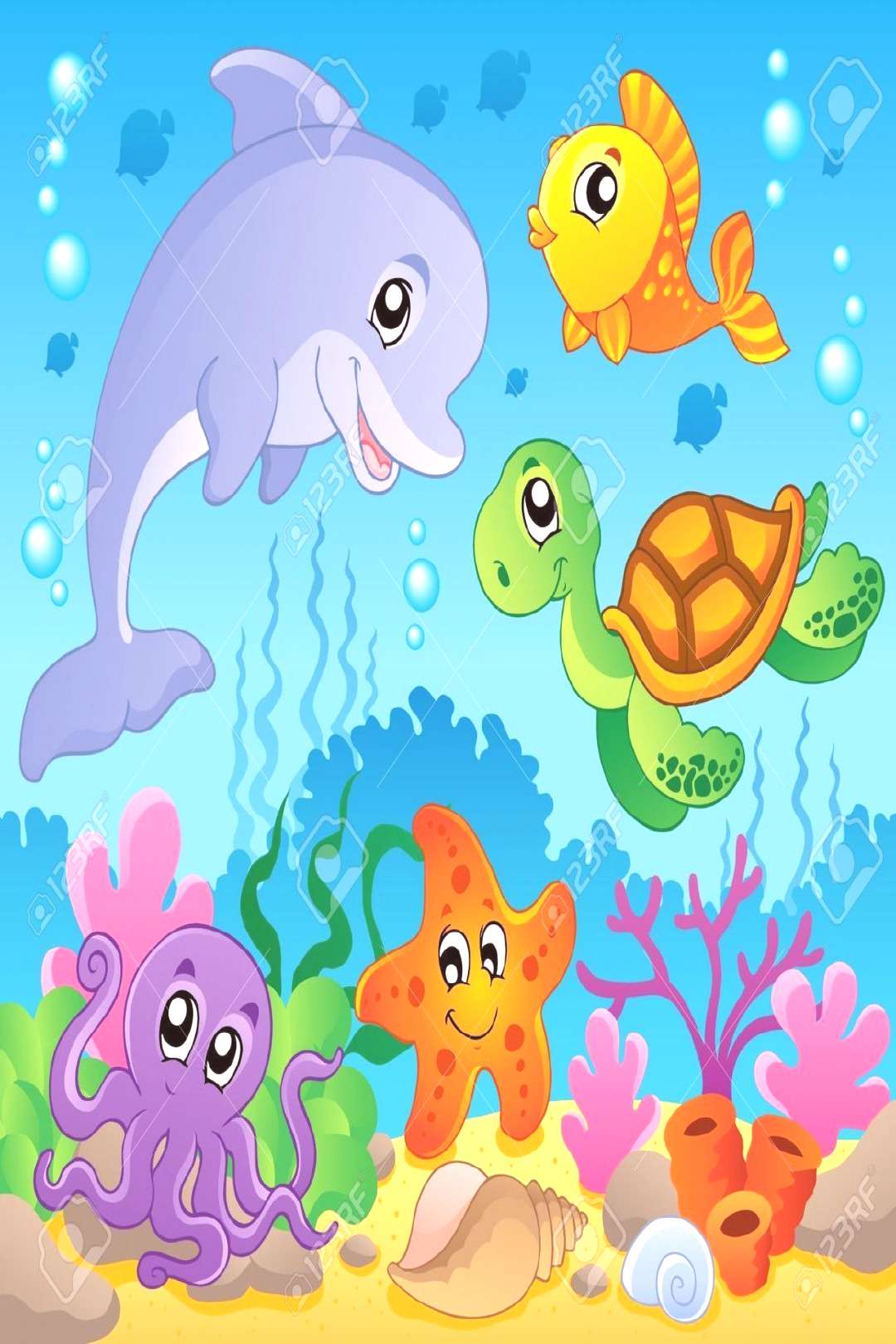 Image With Undersea Theme 2 - Vector Illustration Royalty Free Cliparts, Vectors, And Stock Illustr