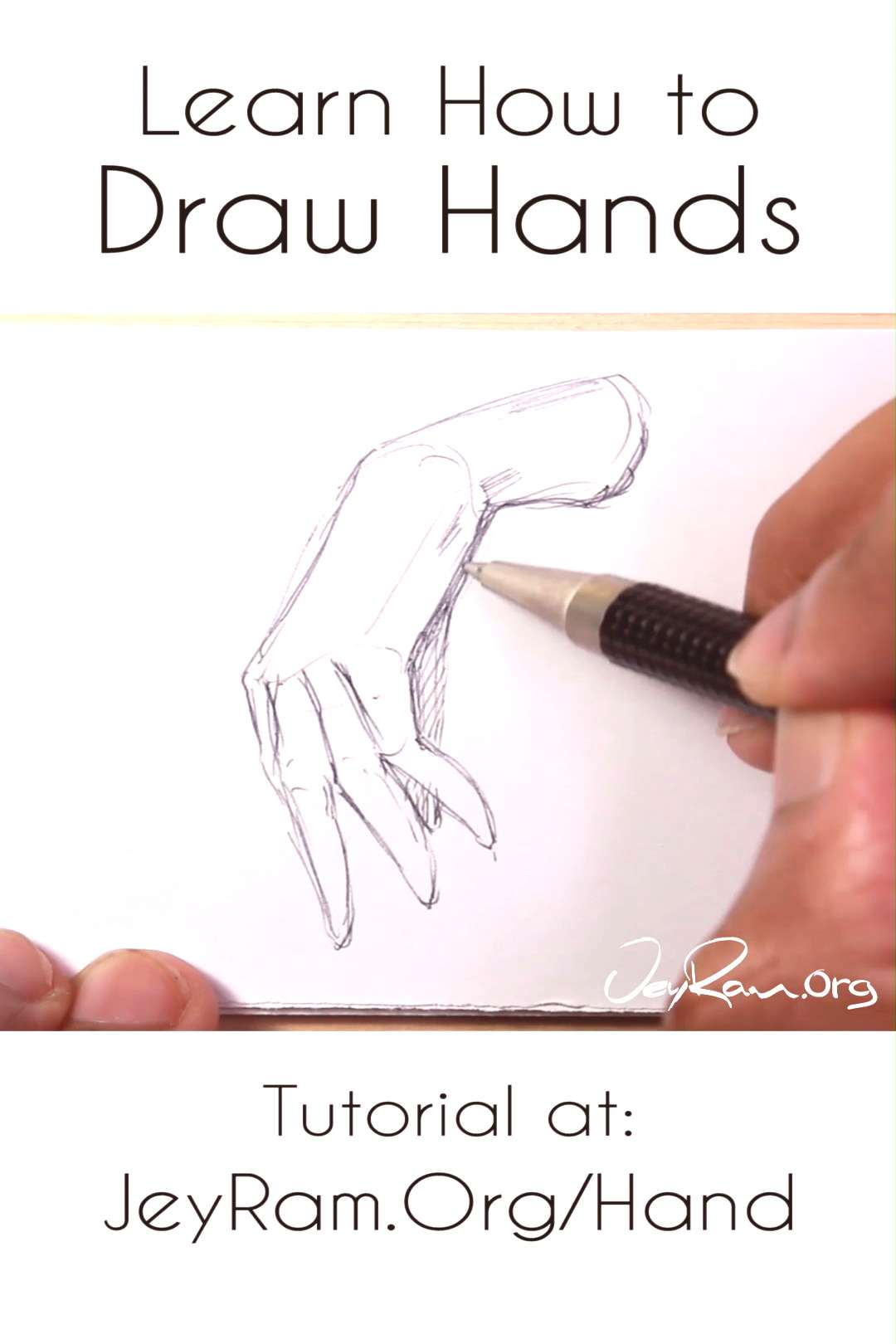 Learn how to draw hands with this step by step tutorial (on the site). There are 4 stages of unders