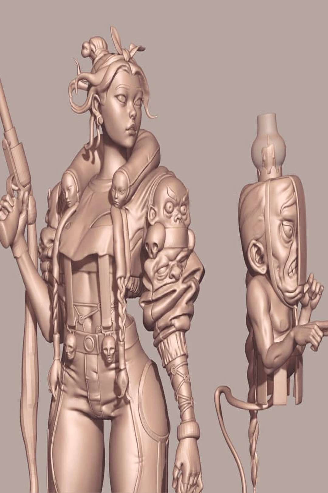 More work on the piece #zbrush