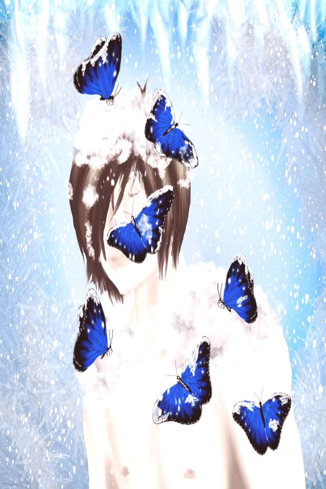 Nades thing is ice and butterflies. In my main story, he has air