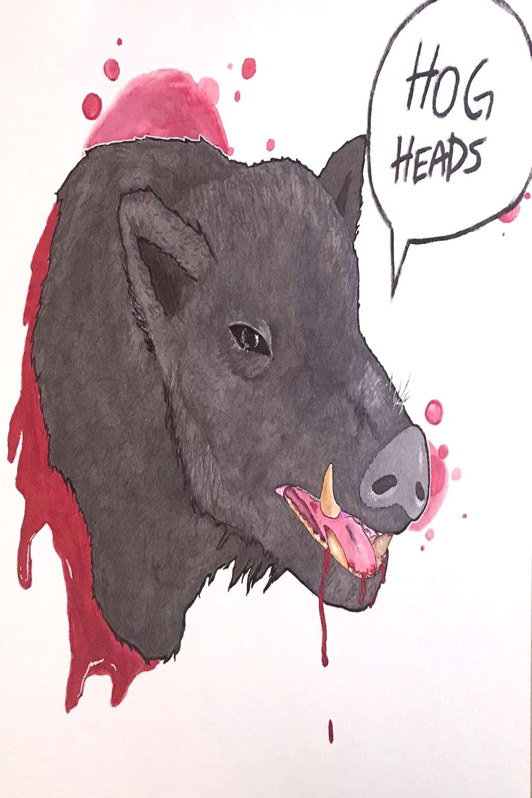 Still one of my prouder pieces #art #drawing #watercolor #hog #pi