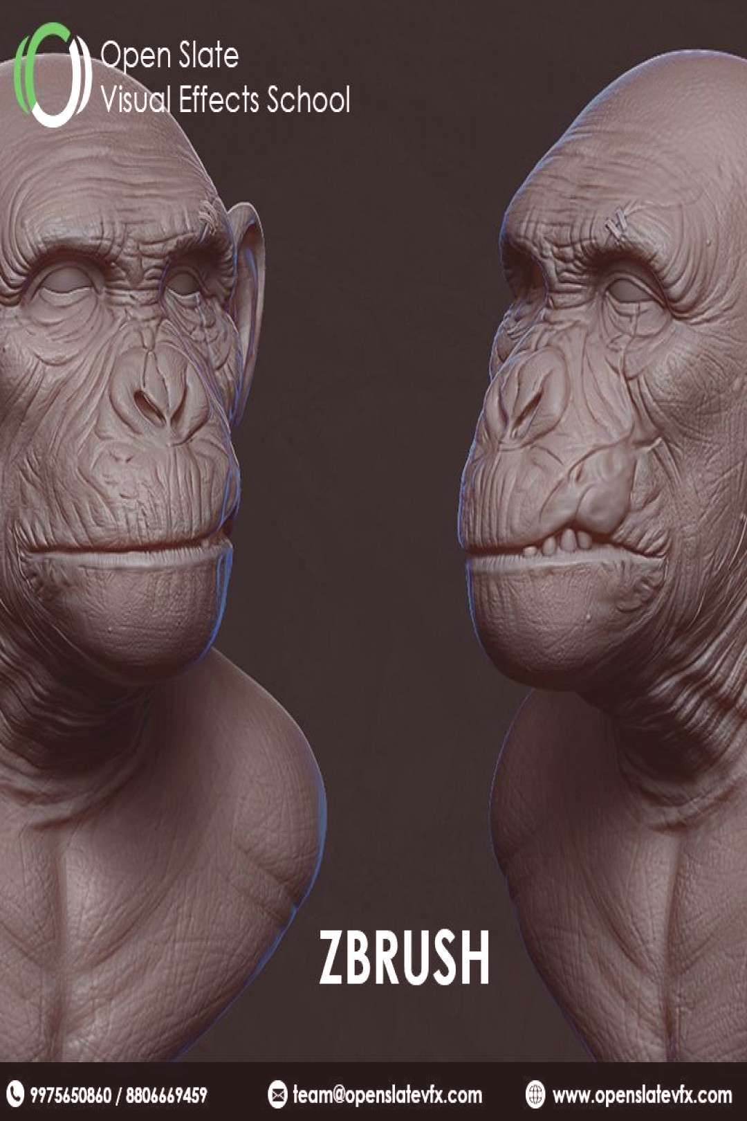 ZBrush allows you to express your creativity in a natural way, giving you powerful tools to create